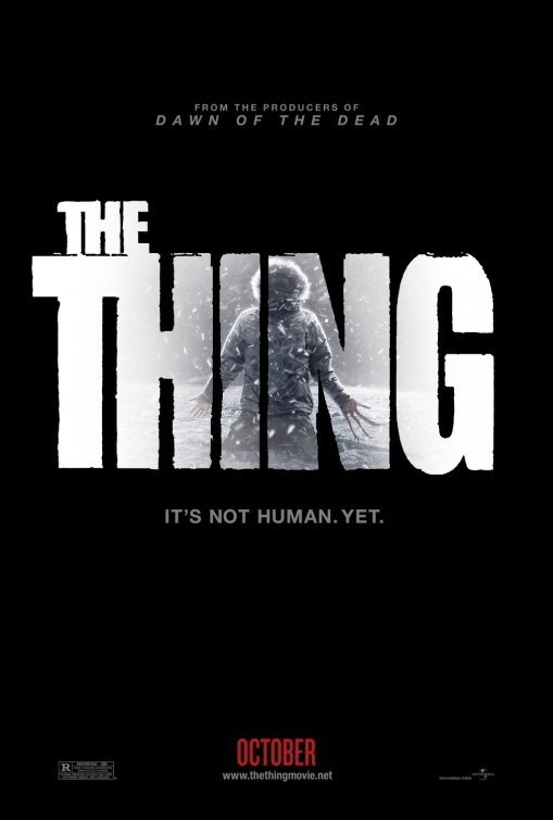 Teaser poster per The Thing, remake de La cosa
