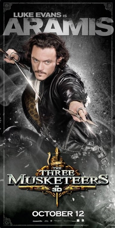 Character Poster per I tre moschettieri in 3D: Luke Evans è Aramis