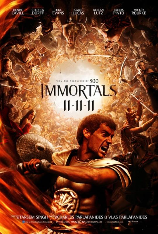 Nuova locandina di Immortals presentata al Comic-Con