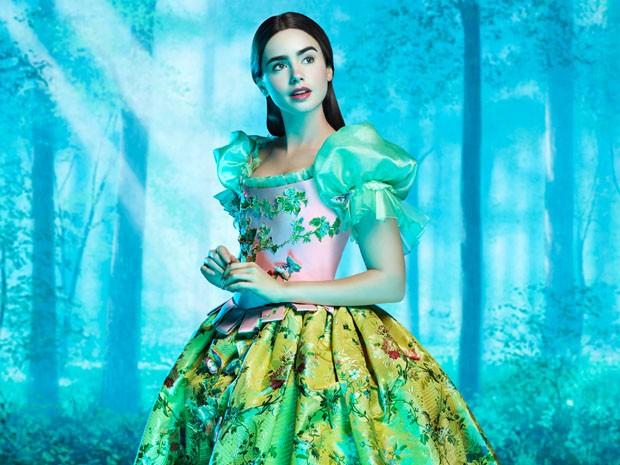 Ecco la prima immagine di Lily Collins nei panni di Biancaneve in The Brothers Grimm: Snow White