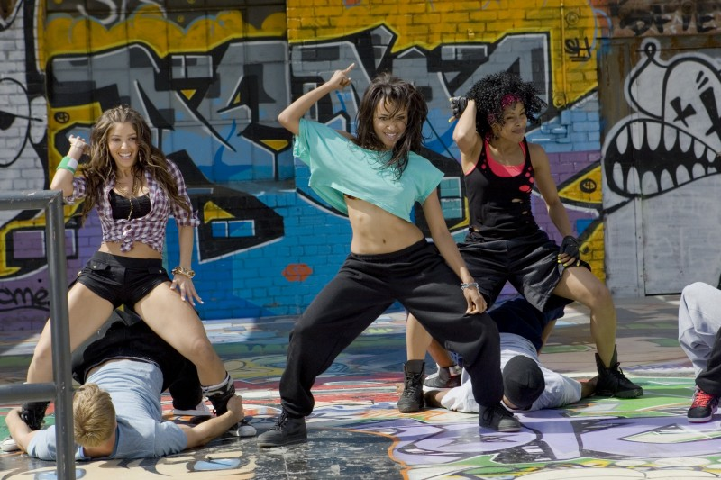 Katerina Graham durante una coreografia in Honey 2