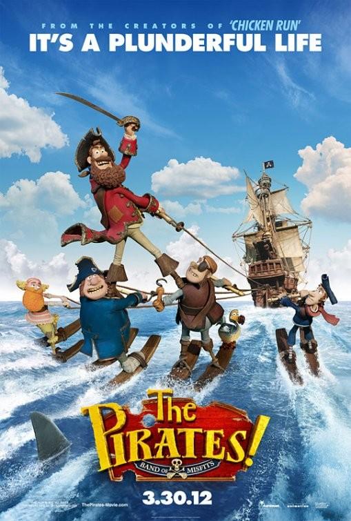 Poster del film di animazione The Pirates! Band of Misfits