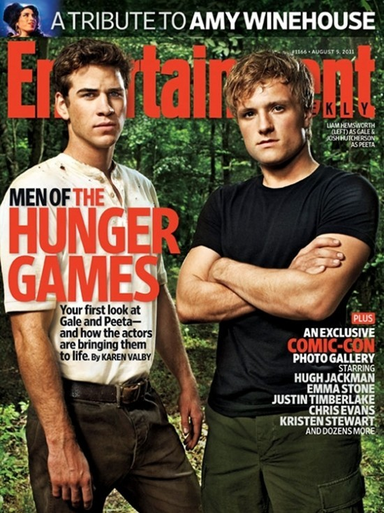 Primo sguardo a Josh Hutcherson e Liam Hemsworth in The Hugher Games. Ai due attori è dedicata la copertina di Entertainment Weekly