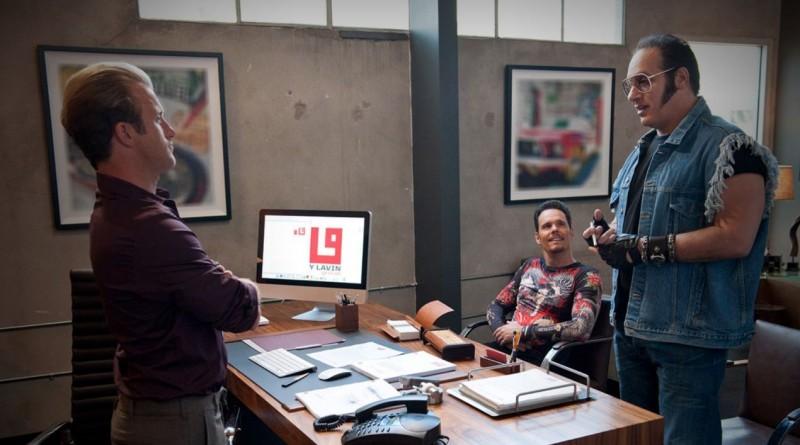 Kevin Dillon, Scott Caan e Andrew Dice Clay in una scena dell'episodio Out with a Bang dell'ottava stagione di Entourage