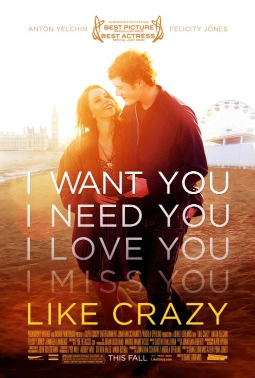 Primo poster per Like Crazy