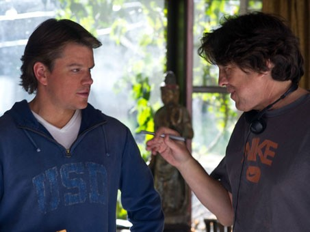 Cameron Crowe e Matt Damon sul set di We Bought a Zoo