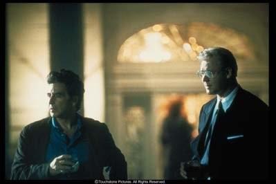 Al Pacino e Russell Crowe nel film Insider - Dietro la verità di Michael Mann