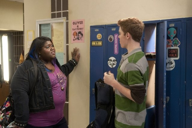 Gabriel Basso e Gabourey Sidibe nell'episodio Musical Chairs di The Big C