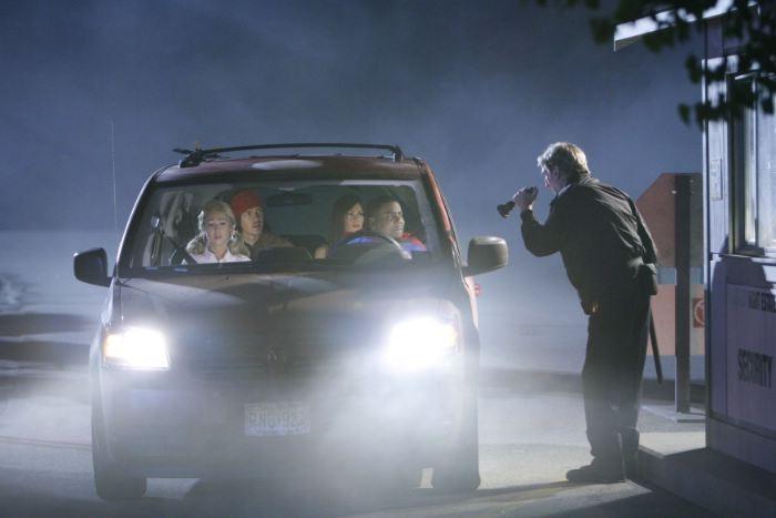 Kenan Thompson, Steve Howey, Desi Lydic e Diora Baird in una immagine della commedia Horror Movie