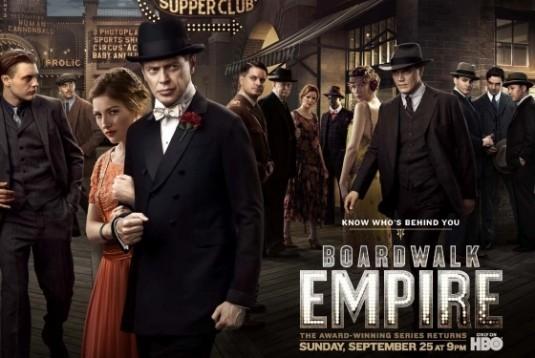Poster con sviluppo orizzontale della stagione 2 di Boardwalk Empire