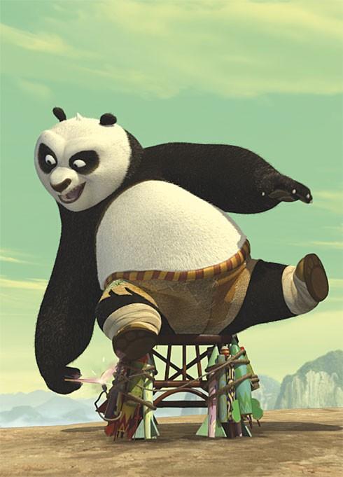 Una immagine promo di Po in Kung Fu Panda
