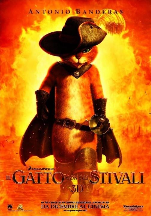Il Gatto con gli Stivali: la locandina italiana