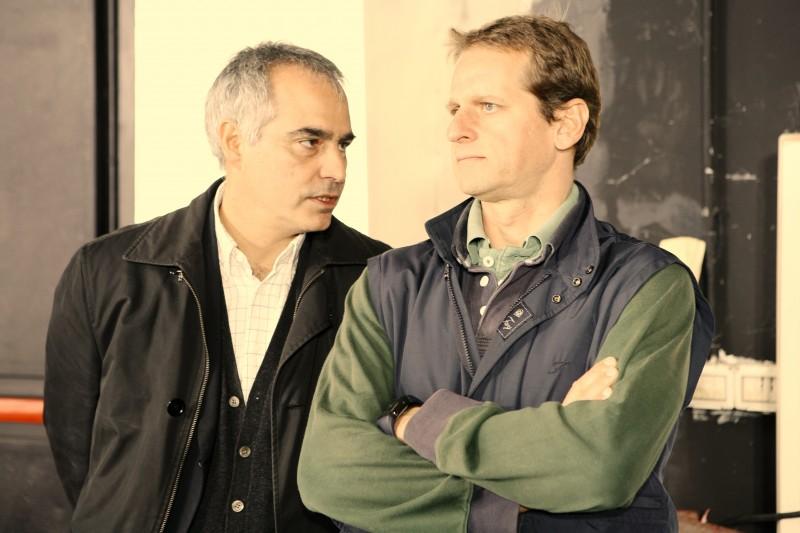 La Pegna con Patrizio Catalano Gonzaga  sul set Rocchetta International 2010