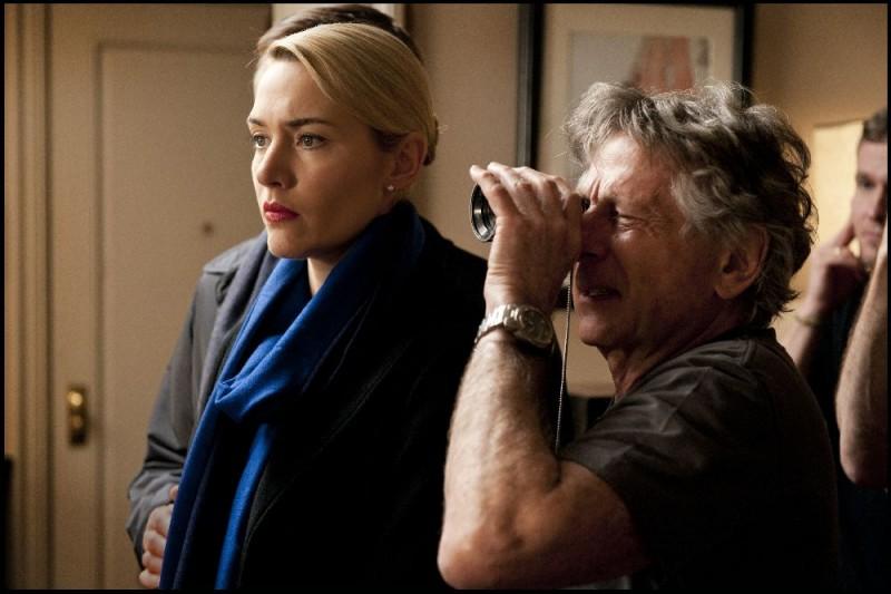 Kate Winslet, star di Carnage insieme al regista Roman Polanski