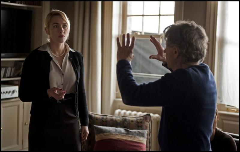 Kate Winslet sul set di Carnage con Polanski