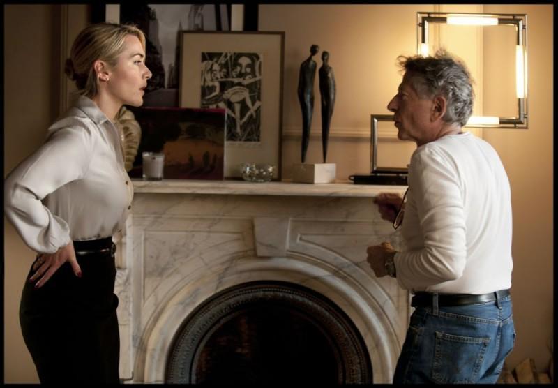 Kate Winslet sul set di Carnage con Roman Polanski