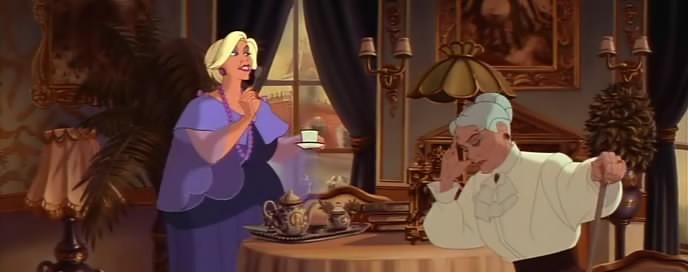 Una scena di Anastasia di Don Bluth
