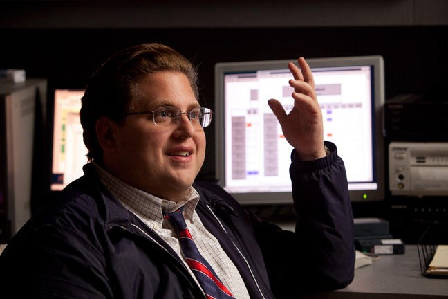 Jonah Hill in una scena di Moneyball