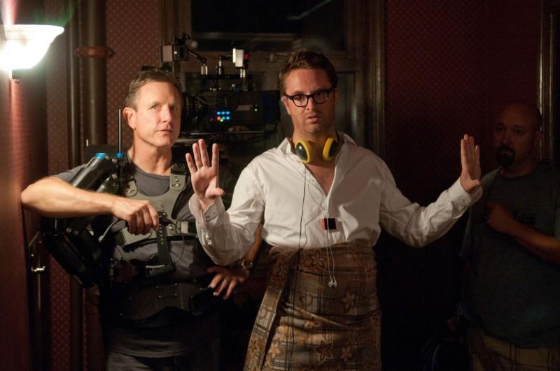 Ryan Gosling accanto Nicolas Winding Refn sul set del film Drive (2011)