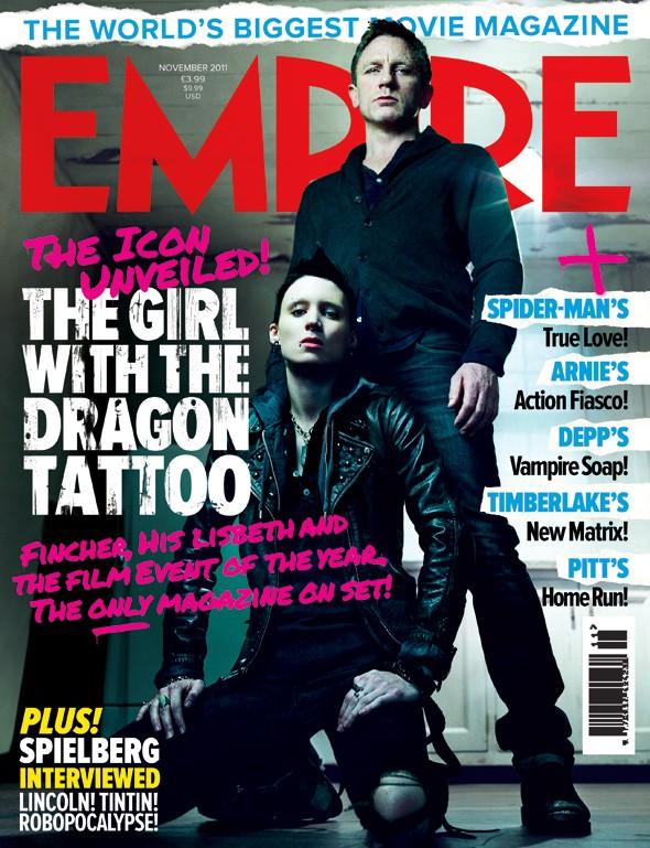 Daniel Craig e Rooney Mara sulla copertina di Empire dedicata a The Girl with the Dragon Tattoo