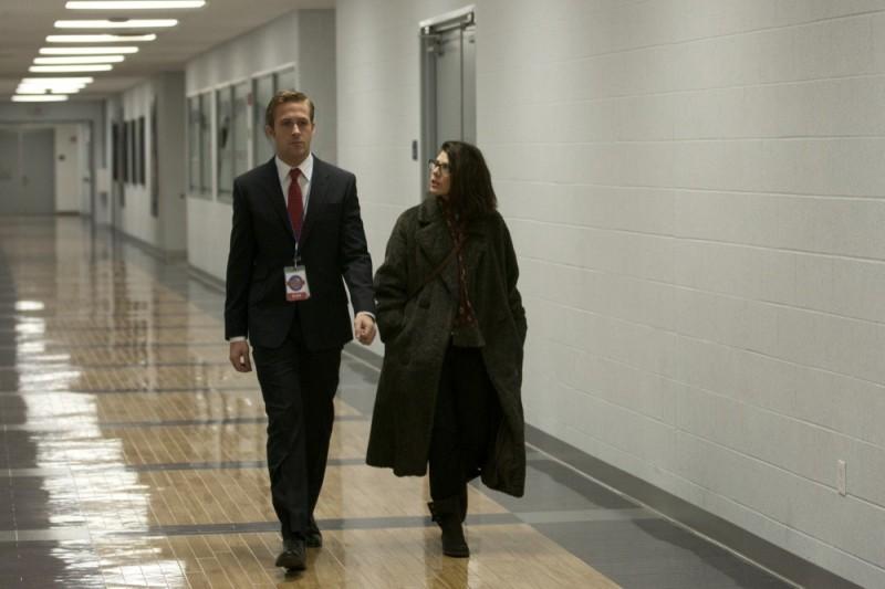 Le idi di marzo: Ryan Gosling con Marisa Tomei in una scena