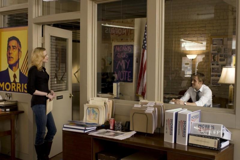 Le idi di marzo: Evan Rachel Wood con Ryan Gosling in una scena