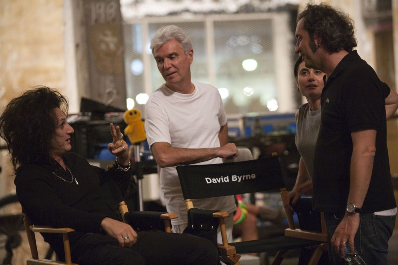 Paolo Sorrentino, Sean Penn e David Byrne sul set di This Must Be The Place