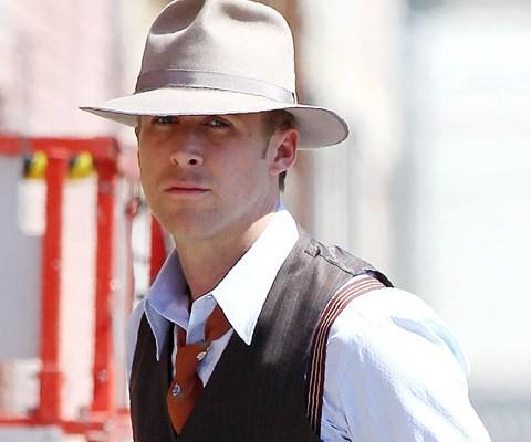 Un bel primo piano di Ryan Gosling in The Gangster Squad