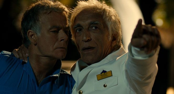 Bienvenue à bord (Benvenuti a bordo) Franck Dubosc e Gérard Darmon in una scena della commedia francese