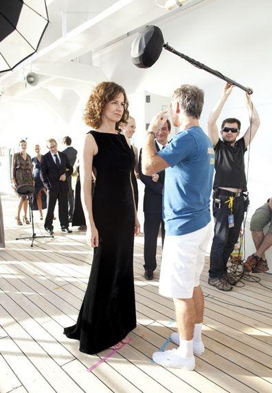 Bienvenue à bord, Franck Dubosc con Valérie Lemercier sul set del film