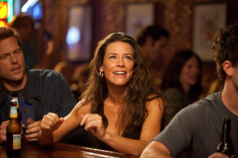 Evangeline Lilly in Real Steel: una scena del film