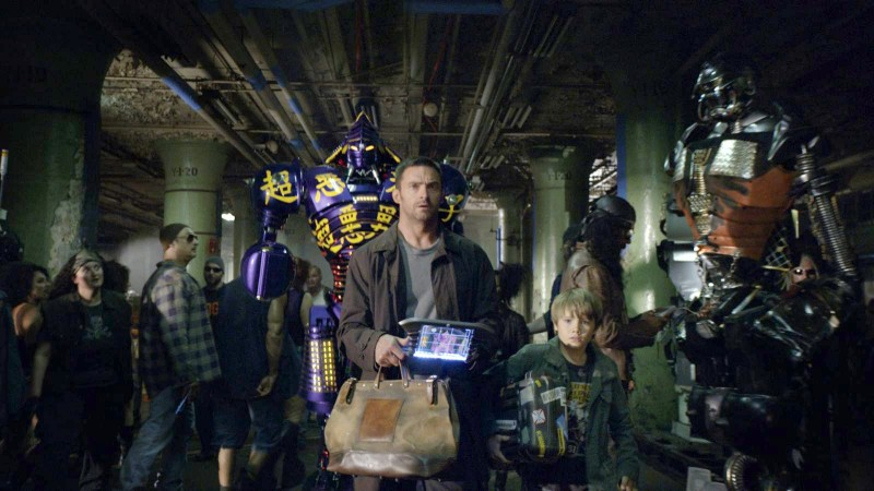 Hugh Jackman in Real Steel con Dakota Goyo