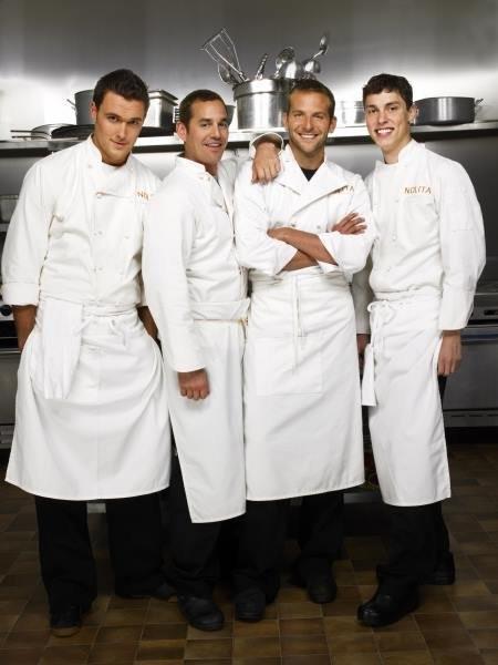 Kitchen Confidential: una foto promozionale di Nicholas Brendon, Bradley Cooper, John Francis Daley ed Owain Yeoman