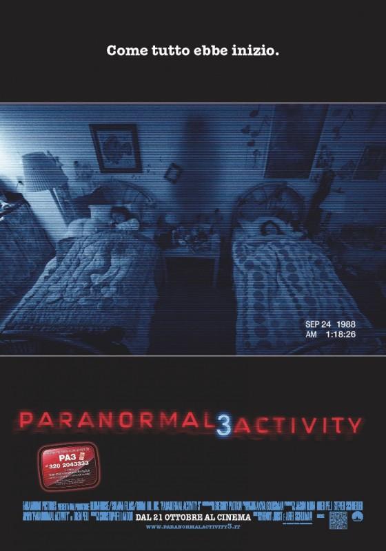 Paranormal Activity 3: la locandina italiana del film