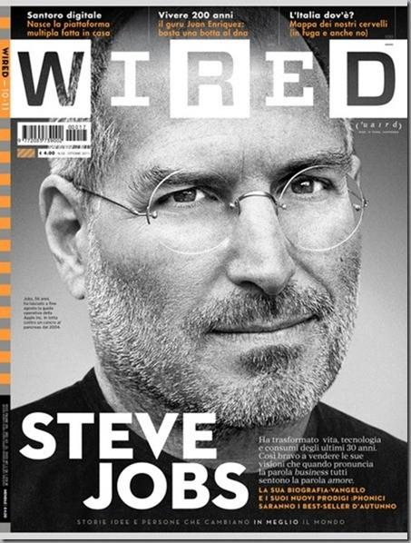 Steve Jobs in cover su Wired Italia