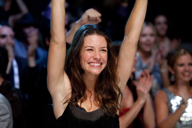 Una radiosa Evangeline Lilly in Real Steel