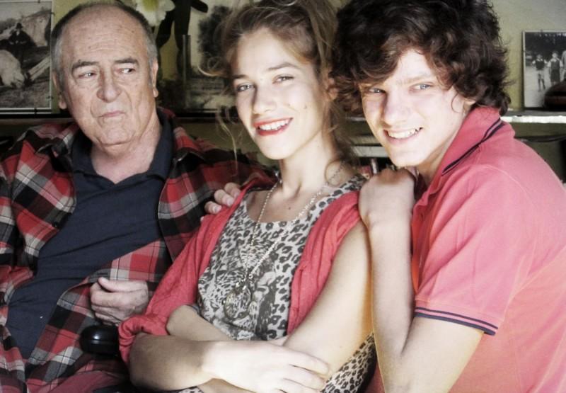 Bernardo Bertolucci sul set di Io e te con Tea Falco e Jacopo Olmo Antinori