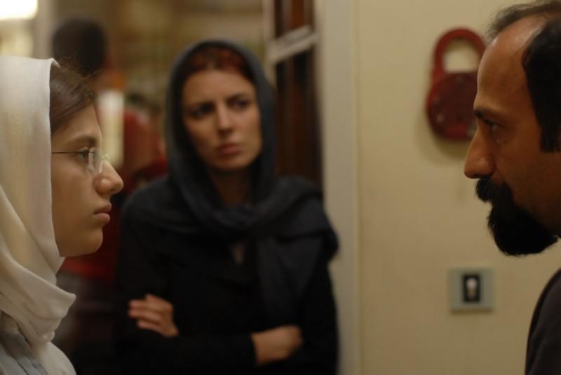 Asghar Farhadi con la figlia Sarina Farhadi sul set di Una separazione
