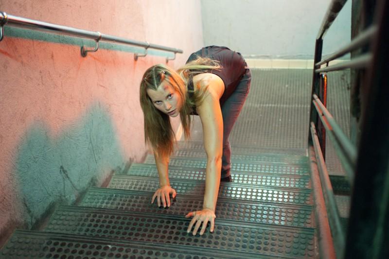 Harriet MacMasters-Green splendida protagonista del thriller Parking Lot 3D