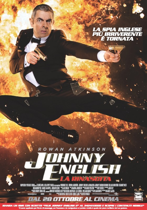 Johnny English - La rinascita: la locandina italiana del film
