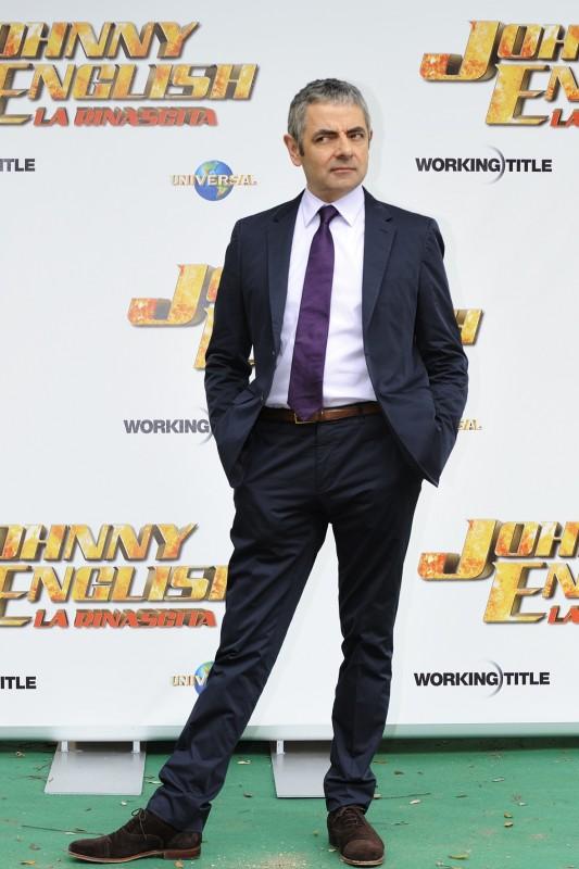 Johnny English - La Rinascita: Rowan Atkinson in uno scatto del photocall della presentazione romana