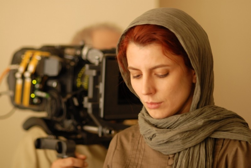 Leila Hatami sul set di Una separazione