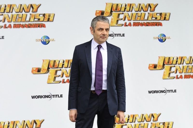 Rowan Atkinson a Roma per la presentazione di Johnny English - La Rinascita