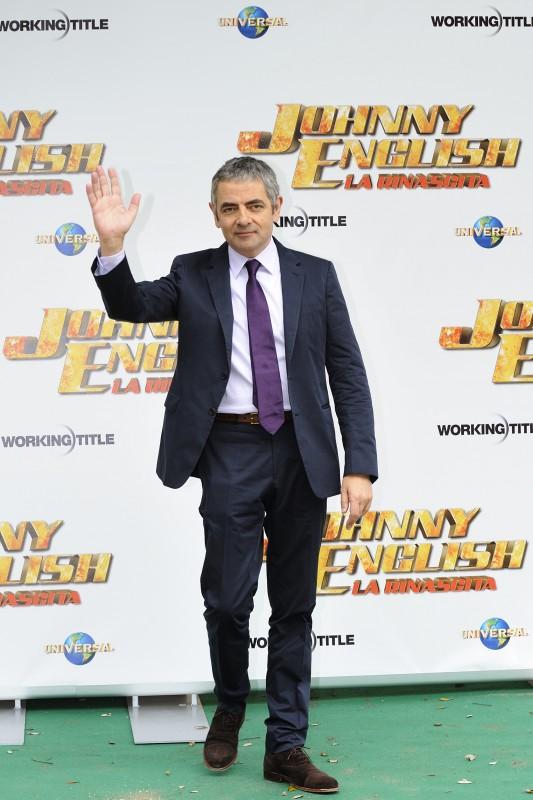 Rowan Atkinson durante la sua visita romana per la presentazione di Johnny English - La Rinascita