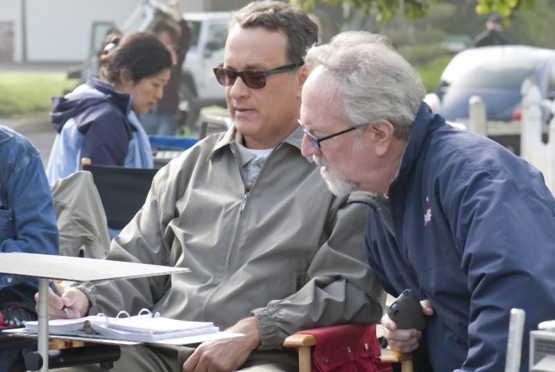 Tom Hanks sul set de L'amore all'improvviso - Larry Crowne