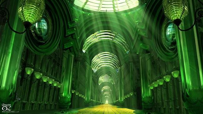 Un'immagine del castello di smeraldo del film Dorothy of Oz