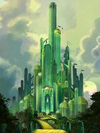 Una veduta della Città di smeraldo del film Dorothy of Oz