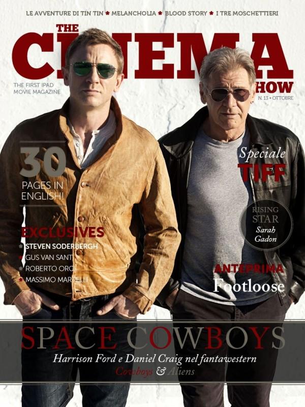 Harrison Ford e Daniel Craig sulla cover di The Cinema Show per Cowboys & Aliens