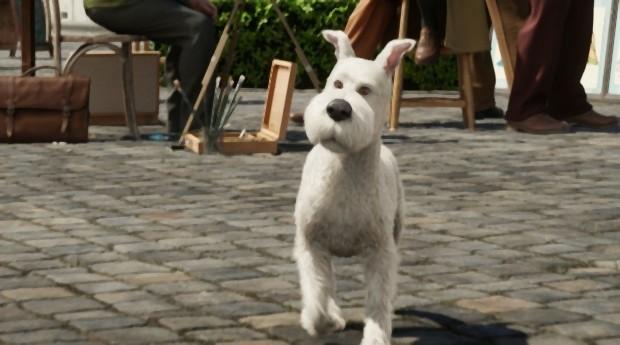 Snowy, il cagnolino di Tintin ne Le Avventure di Tintin: il segreto dell'unicorno