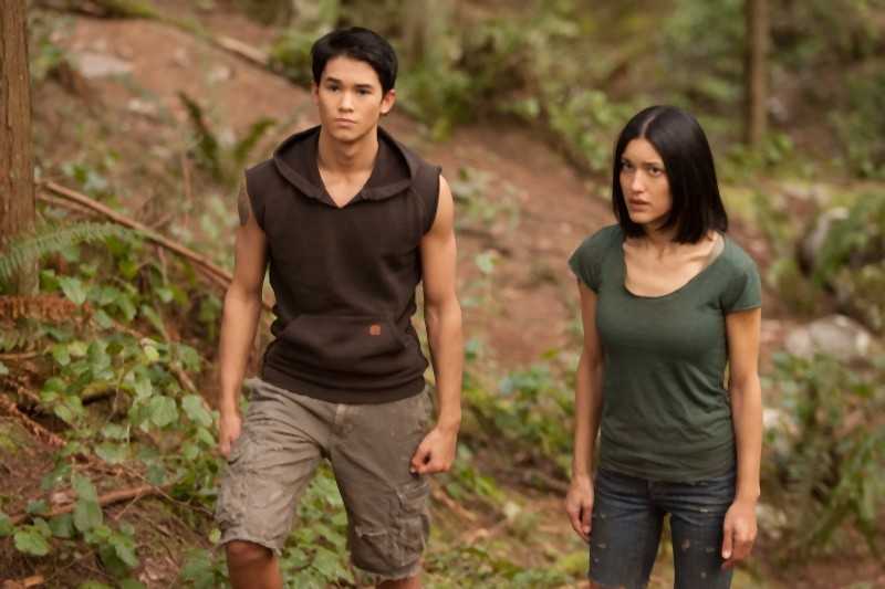 Booboo Stewart e Julia Jones in una scena di The Twilight Saga: Breaking Dawn - Parte I